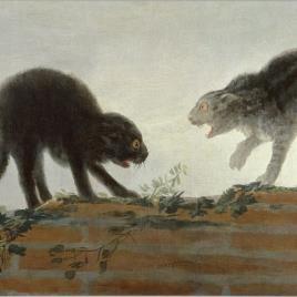 """Goya's """"Riña de Gatos""""."""