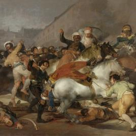 """Goya's """"The Charge of the Mamelukes""""."""