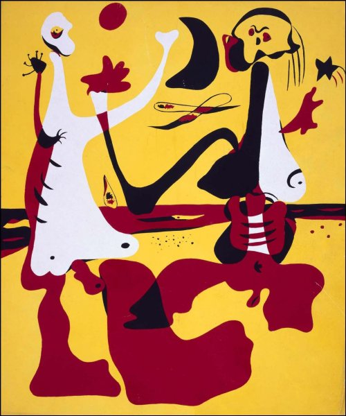 "Miro's ""Figures by the Sea"" (photo ref http://www.museoreinasofia.es/en/collection/artwork/personajes-junto-al-mar-figures-sea)"
