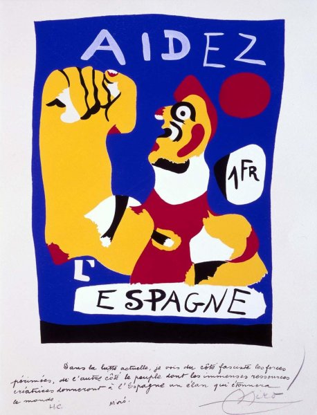 "Miro's ""Help Spain"" (photo ref http://www.museoreinasofia.es/en/collection/artwork/aidez-lespagne-help-spain)"